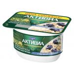 Десерт АКТИВИА творожная Супер Овсянка с черникой и овсянкой 4%, 130 г
