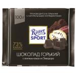 Шоколад горький RITTER SPORT 73%, 100 г