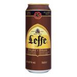 Пиво LEFFE Brune ж/б, 0,5 л