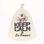 Колпак для бани PROFFI SAUNA Keep Calm be Princess