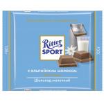 Шоколад молочный RITTER SPORT с альпийским молоком, 100 г