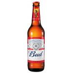 Пиво светлое BUD стекло в упаковке, 6х0,47л