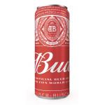 Пиво светлое BUD железная банка в упаковке, 24х0,45л