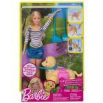 Кукла BARBIE Прогулка с питомцем