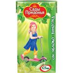 Сок САДЫ ПРИДОНЬЯ Яблоко-виноград, 125 мл