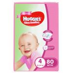 Подгузники для девочек HUGGIES Ultra Comfort 4 (8-14кг), 80 шт.