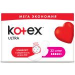 Ультратонкие прокладки KOTEX Ultra, 32 шт