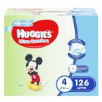 Подгузники для мальчиков HUGGIES Ultra Comfort 4 (8-14кг), 126 шт.