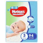 Подгузники для мальчиков HUGGIES Ultra Comfort 3 (5-9кг), 94 шт