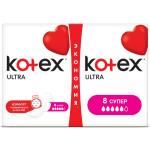 Прокладки KOTEX ultra 8 супер, 2х8 шт