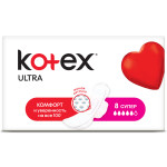 Гигиенические прокладки KOTEX Ultra Супер, 8 шт.
