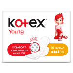 Прокладки KOTEX Young, 10 шт.