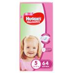 Подгузники для девочек HUGGIES Ultra Comfort 5 (12-22кг), 64 шт.