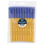 Шариковая ручка SCHNEIDER 505 F синяя, 10 шт