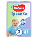 Трусики для мальчиков HUGGIES 3 (7-11кг), 58шт