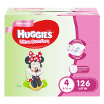 Подгузники для девочек HUGGIES Ultra Comfort 4 (8-14кг), 126 шт.