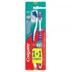 Зубная щетка COLGATE Массажер, Средняя жесткость, промоупаковка 1+1