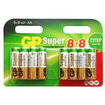 Батарейки GP AА Super, 16 шт (8+8)