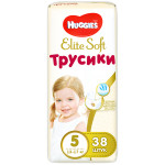 Трусики HUGGIES Elite Soft 5 (12-17кг), 38шт