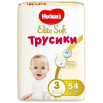 Трусики HUGGIES Elite Soft 3 (6-11кг), 54шт