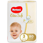Подгузники HUGGIES Elite Soft 3 (5-9кг), 80шт