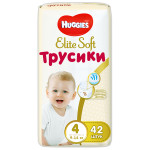 Трусики HUGGIES Elite Soft 4 (9-14кг), 42шт