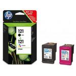 Картридж струйный, черный, цветной 121CN637HE HP