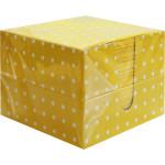 Салфетки ПЕРЫШКО в коробке, желтые 85 л. 2-слойные