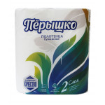 Полотенце бумажное ПЕРЫШКО 2-слойное 2 рулона