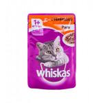 Корм для кошек WHISKAS рагу с телятиной, 85г