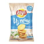 Чипсы LAYS Из Печи Нежный сыр, зелень 85 г