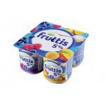 Йогуртовый продукт FRUTTIS малина-черника/абрикос-манго 5%, 115г