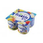 Йогуртовый продукт FRUTTIS манго-дыня/банан-клубника 5%, 115г