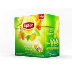 Чай LIPTON Mandarin Orange зеленый, 20х1.8г