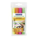 Текстовый маркер, флуоресцентный 4 цвета CENTROPEN