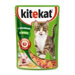 Влажный корм для кошек KITEKAT с сочными кусочками кролика в желе 85 грамм