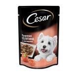 Влажный корм для собак CESAR тушеная телятина с овощами 100 грамм