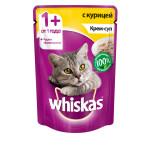 Влажный корм для кошек WHISKAS крем-суп с курицей 85 грамм