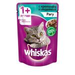 Влажный корм для кошек WHISKAS рагус кроликом и индейкой 85г