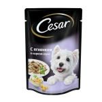 Влажный корм CESAR для взрослых собак ягненок в сырном соусе 100 грамм