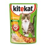 Влажный корм для кошек KITEKAT с сочными кусочками курицы в желе 85 грамм