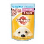Влажный корм для щенков всех пород PEDIGREE с ягненком в соусе 85 грамм