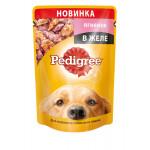 Влажный корм для собак PEDIGREE для взрослых собак всех пород с ягненком в желе, 100г