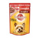Влажный корм для взрослых собак маленьких пород PEDIGREE паштет с говядиной 80 грамм