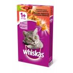 Сухой корм для кошек WHISKAS Вкусные подушечки с нежным паштетом, Аппетитное ассорти с говядиной и кроликом 350 грамм