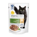 Влажный корм для кошек старше 7 лет Perfect Fit Senior с курицей в соусе 85 грамм