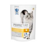 Полнорационный сухой корм для взрослых кошек с чувствительным пищеварением Perfect Fit Sensitive с индейкой 650 грамм