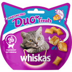 Лакомство для кошек подушечки WHISKAS Duo Treats с лососем исыром 40 грамм