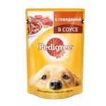 Влажный корм для взрослых собак всех пород PEDIGREE с говядиной в соусе 100 грамм