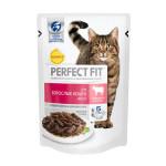 Корм для взрослых кошек PERFECT FIT говядина пауч, 85г